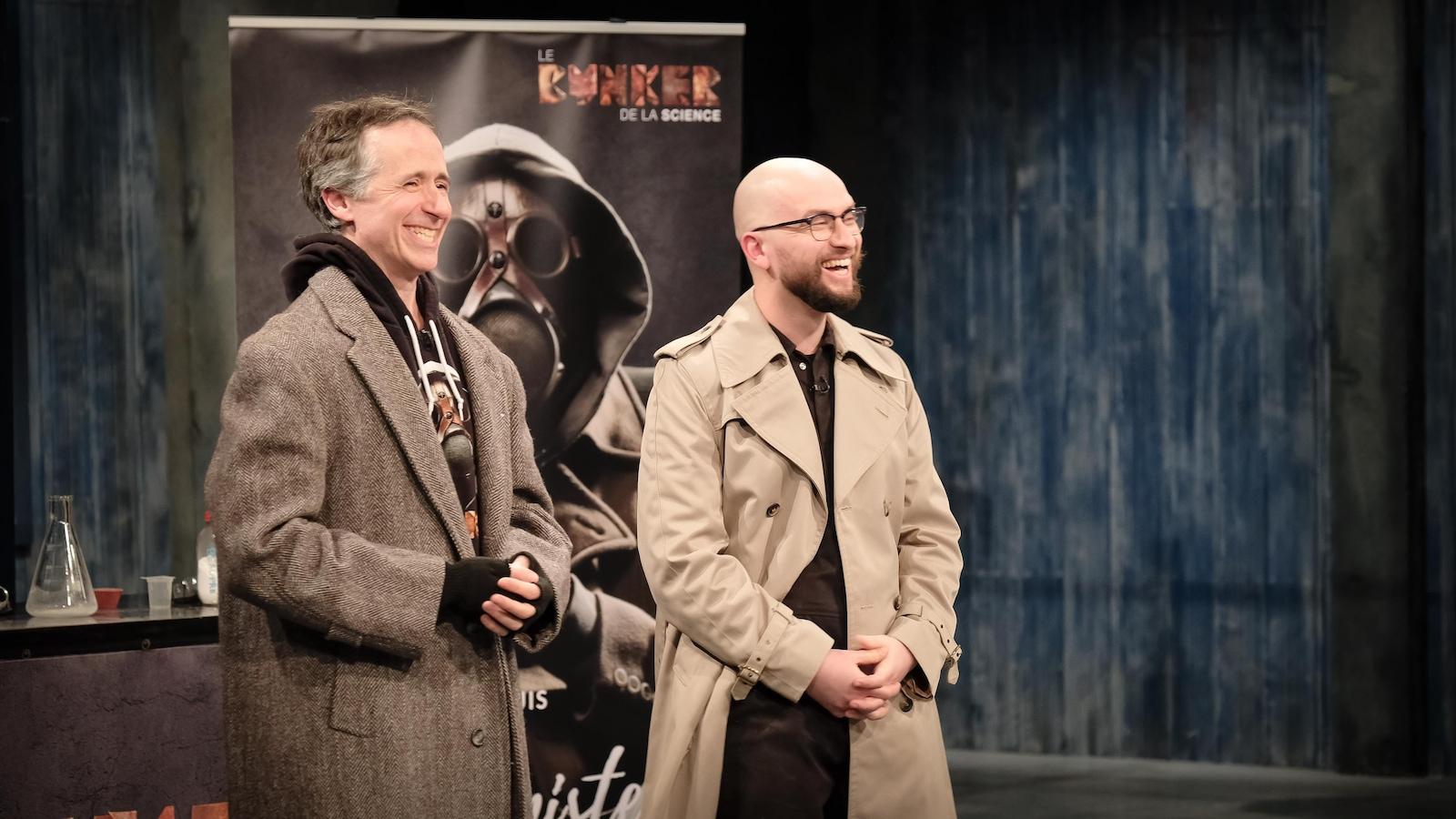 David Bertrand et Joël Leblanc du Bunker de la science.