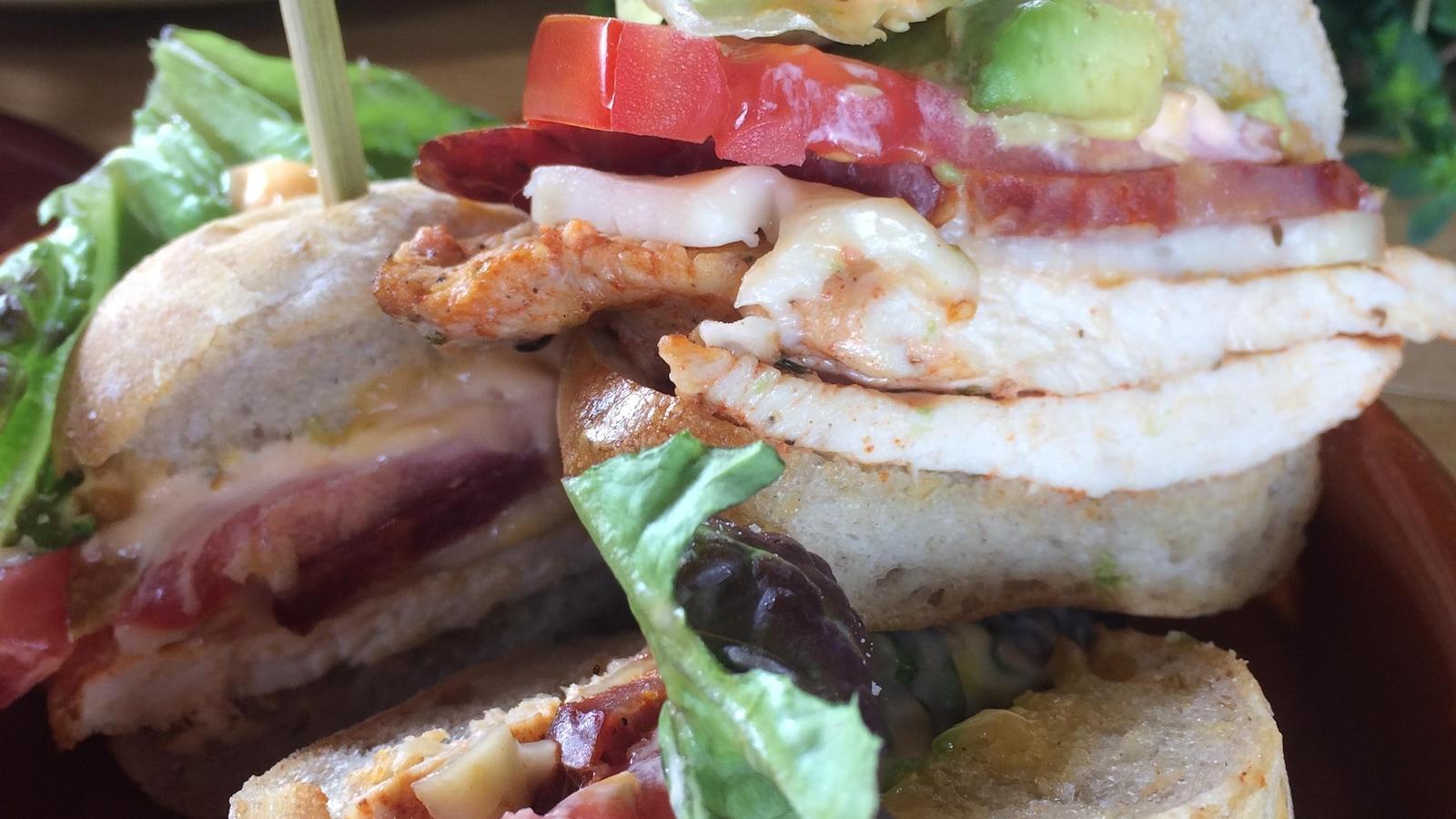 Trois sandwichs dans une assiette