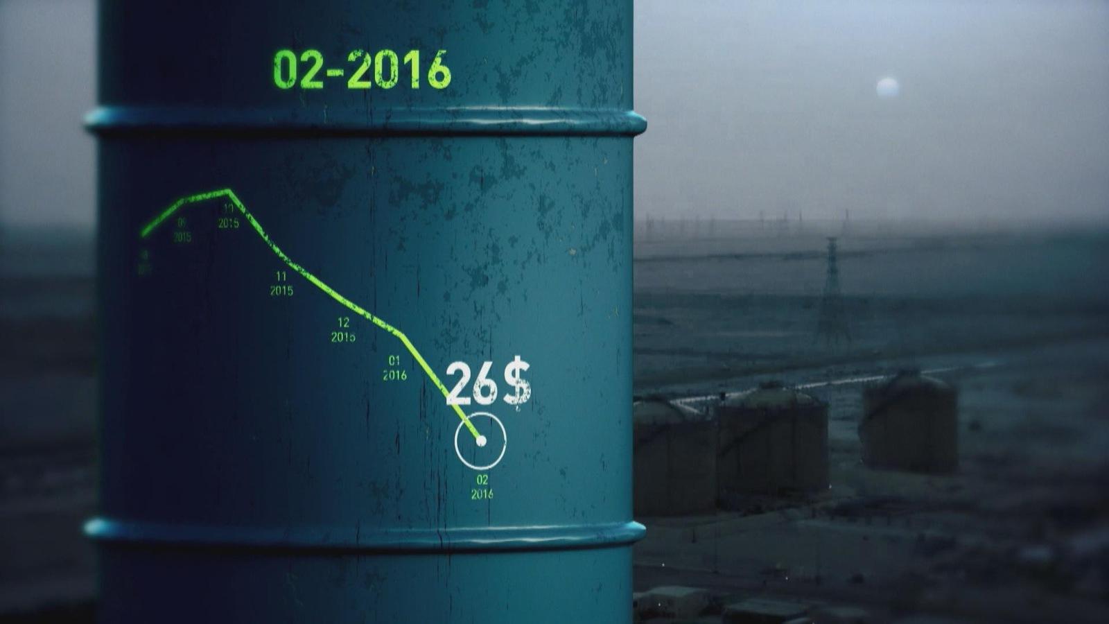 Février 2016 : le baril de pétrole est à 26 $.