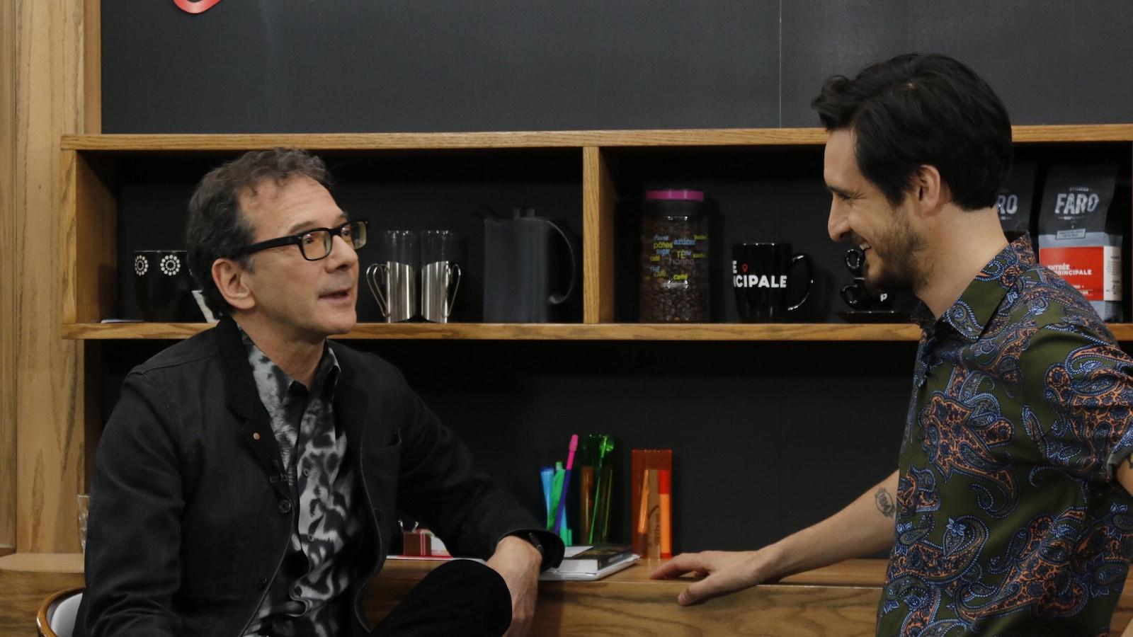 Roger Simard et Sébasten Diaz