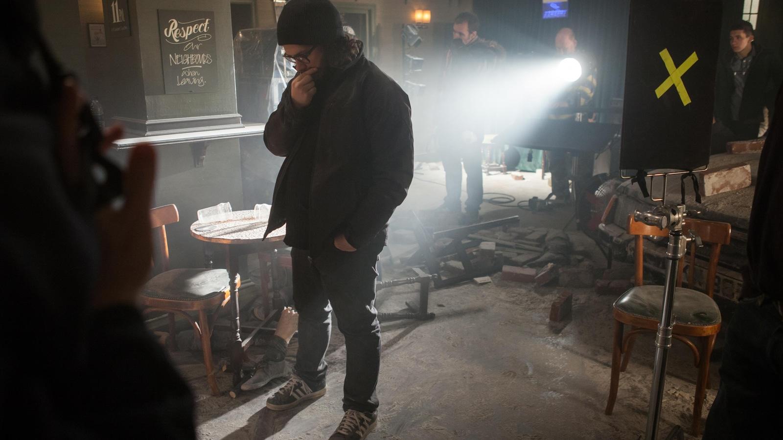 Le réalisateur du film sur son plateau.