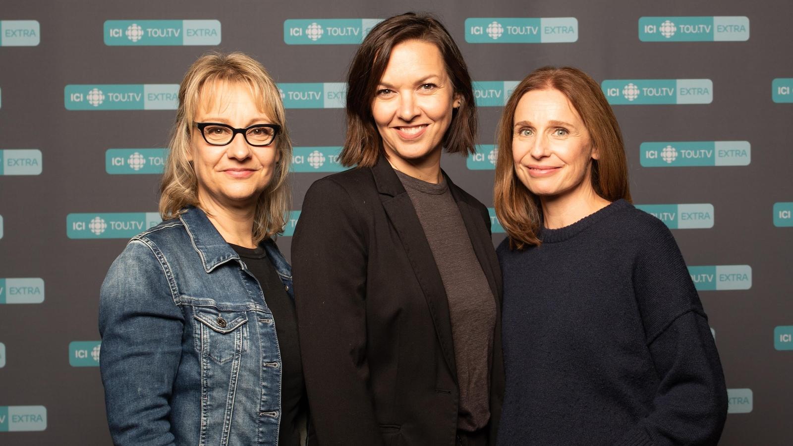 Portrait des trois comédiennes