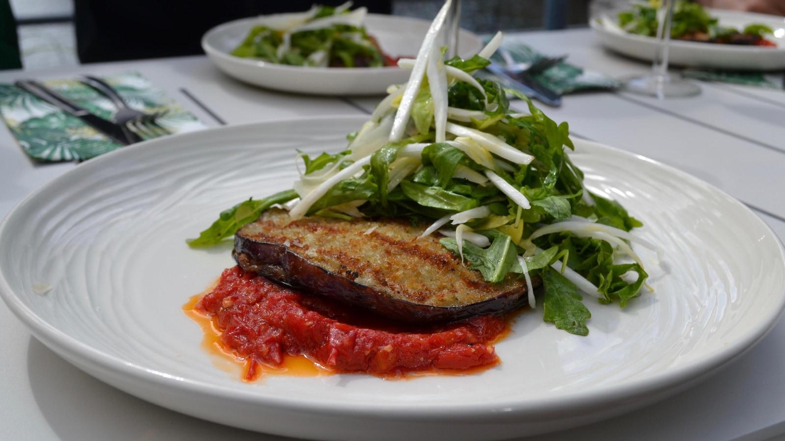 La recette de Stefano Faita présenté dans une assiette