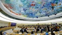 Salle de réunion du Haut-Commissariat des Nations unies aux droits de l'homme à Genève.