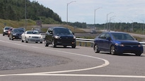 L'autoroute 20 dans la région du Bas-Saint-Laurent.
