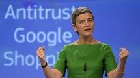 La Commissaire européenne à la Concurrence, Margrethe Vestager, lors d'une conférence de presse à Bruxelles, mardi.