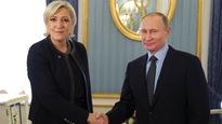 Marine Le Pen rencontre le président russe Vladimir Poutine