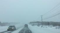 Route enneigée en Abitibi-Témiscamingue