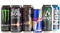 6 canettes de boissons énergisantes de marque Red Bull, Monster, Full Throttle, Rockstar et Amp