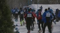 L'épreuve de raquette à la Coupe du monde de triathlon d'hiver sur les plaines d'Abraham
