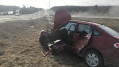 Grave accident de la route sur l'autoroute 10