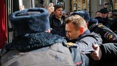 L'opposant russe Alexeï Navalny arrêté pendant une manifestation