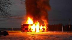 Un autobus en flammes à Ottawa