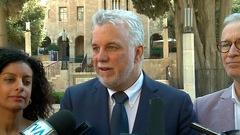 Philippe Couillard et sa délégation amorcent leur visite en Israël