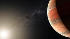 De l'oxyde de titane dans l'atmosphère d'une exoplanète