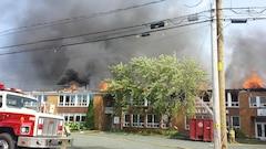 Incendie dans une école de Saint-Sylvère