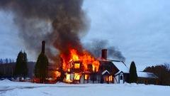 Le Chalet Dubuc rasé par les flammes