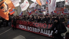 Toujours un grand vide chez les opposants à Poutine depuis la mort de Nemtsov
