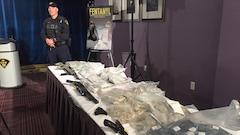 Démantèlement d'un vaste réseau de trafic de drogue et d'armes au Québec et en Ontario