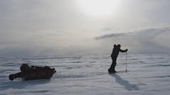 Un Québécois atteint le pôle Sud en solitaire