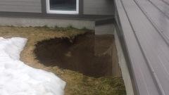 Affaissement de terrain près d'une école à Valcartier