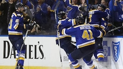 Les Blues nivellent la série 1-1 face aux Predators