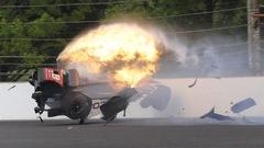 Sébastien Bourdais victime d'une violente collision à Indianapolis