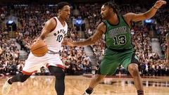 Les Raptors l'emportent contre les Celtics, bon début d'Ibaka