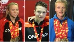 Hanna Henderson, Graysen Bernard et Cole Pratt, les héros des Jeux du Canada