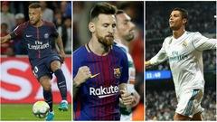 Neymar, Ronaldo et Messi finalistes au titre de joueur de l'année à la FIFA