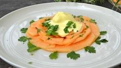 Carpaccio de cantaloup et glace au safran