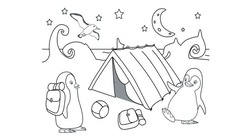 Coloriage Ozie Boo - Le camping