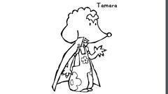 Coloriage Bali - Tamara en vampire