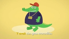 Y avait des gros crocodiles