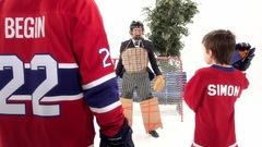 Hockey de ruelle avec Steve Bégin