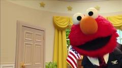 Le président monte sur scène