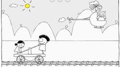"""Joue à """"Léon sur les rails"""" avec Léon (ce jeu est en Flash)"""