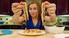 Spaghetti aux hotdogs