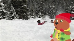 On s'amuse dans la neige