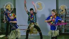 Tire-éponge et hula hoop