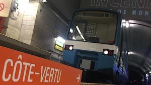 Un wagon du métro de Montréal dans la « station secrète »
