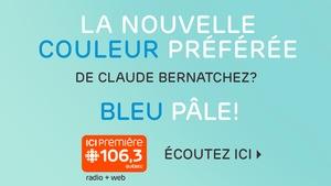 La nouvelle couleur préférée de Claude Bernatchez? Bleu!