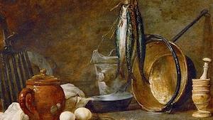 Un tableau illustrant l'alimentation lors des jours dit maigre.
