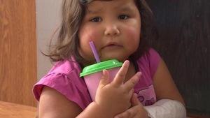 Photo d'Ambriel Roulette, une fillette âgée de deux ans.