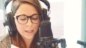 Angie Landry, journaliste web et réalisatrice de « De l'Abitibi-Témiscamingue au monde entier »