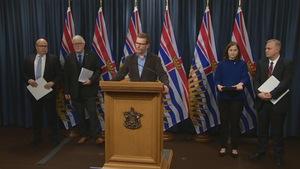 Le ministre de la Santé. Terry Lake, annonce les chiffres relatifs aux morts par surdoses en Colombie-Britannique.
