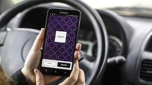 L'application mobile du service de transport Uber