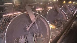Détail de l'usine d'ArcelorMittal à Port-Cartier.