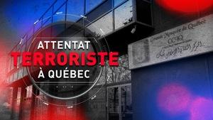 Un logo évoquant l'attentat terroriste à la Grande mosquée de Québec.