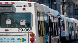 Autobus de la Société de transport de Montréal (vue arrière)